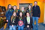 Tralee imperial girls U17 at The Kerry Area Basketball Board annual Awards and Medal presentations at the Kingdom Greyhound Stadium Tralee on  Tuesday