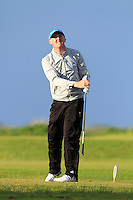 Jamie Savage (SCO) on the 12th tee during Round 3 of The Irish Amateur Open Championship in The Royal Dublin Golf Club on Saturday 10th May 2014.<br /> Picture:  Thos Caffrey / www.golffile.ie