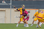 Los Angeles, CA 02/15/14 - Brian Braasch (Arizona State #29) and unidentified Stanford player(s)
