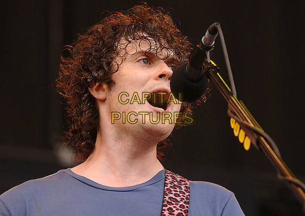 THE FRATELLIS.performing live at the 2007 V Festival, Hylands Park, Chelmsford, Essesx, England,.19th August 2007..portrait headshot concert gig band music .CAP/ BEL.©Tom Belcher/Capital Pictures.
