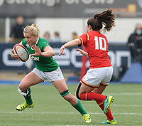 Ireland's Claire Molloy in action during todays match<br /> <br /> Photographer Ian Cook/CameraSport<br /> <br /> Women's Six Nations Round 4 - Wales Women v Ireland Women - Saturday 11th March 2017 - Cardiff Arms Park - Cardiff<br /> <br /> World Copyright &copy; 2017 CameraSport. All rights reserved. 43 Linden Ave. Countesthorpe. Leicester. England. LE8 5PG - Tel: +44 (0) 116 277 4147 - admin@camerasport.com - www.camerasport.com