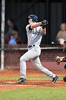 Pulaski Yankees designated hitter Eric Wagaman (60) swings at a pitch during game one of the Appalachian League Championship Series against the Elizabethton Twins at Joe O'Brien Field on September 7, 2017 in Elizabethton, Tennessee. The Twins defeated the Yankees 12-1. (Tony Farlow/Four Seam Images)