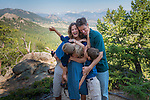 Collingwood family portrait in the Rocky Mountains, Estes Park, Colorado, USA