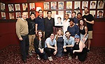 Andy Karl with the 'Groundhog Day' Family during the Andy Karl Sardi's Portrait unveiling at Sardi's on May 31, 2017 in New York City.
