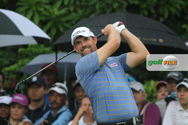 Padraig Harrington (IRL) on the 8th tee during the continuation of Round 2 which was delayed due to storm warnings at the Barclays Singapore Open, Sentosa Golf Club, Singapore. 10/11/12..(Photo Jenny Matthews/www.golffile.ie)