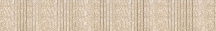 "6"" Stalk border, a hand-cut stone mosaic, shown in polished Botticino."