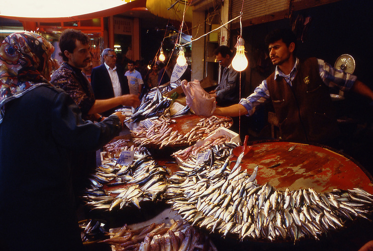 Asia, TUR, Turkey, Aegean Sea, Aegean, Izmir, Old town, Typical market, Fishmarket....[ For each utilisation of my images my General Terms and Conditions are mandatory. Usage only against use message and proof. Download of my General Terms and Conditions under http://www.image-box.com or ask for sending. A clearance before usage is necessary...Material is subject to royalties. Each utilisation of my images is subject to a fee in accordance to the present valid MFM-List...Contact | archive@image-box.com | www.image-box.com ]