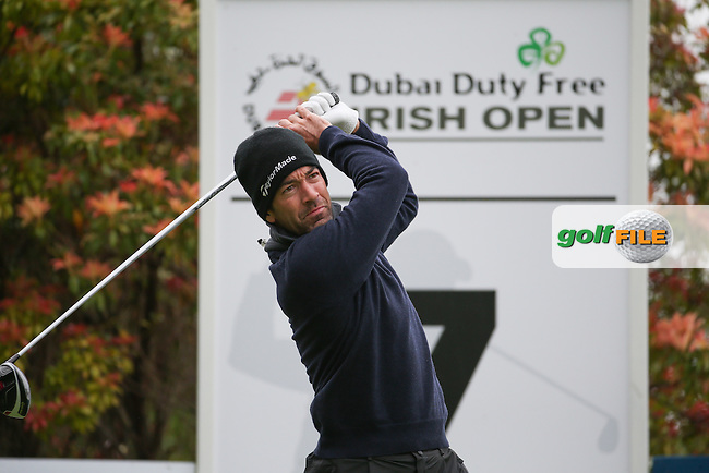 Eduardo De La Riva (ESP) plays from the 7th tee during Round One of the 2016 Dubai Duty Free Irish Open Hosted by The Rory Foundation which is played at the K Club Golf Resort, Straffan, Co. Kildare, Ireland. 19/05/2016. Picture Golffile | David Lloyd.<br /> <br /> All photo usage must display a mandatory copyright credit as: &copy; Golffile | David Lloyd.