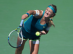 Victoria Azarenka (BLR) defeats Varvara Lepchenko (USA) 6-3, 6-4 at the US Open in Flushing, NY on September 7, 2015.
