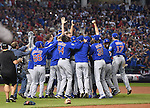 Chicago Cubs team group,<br /> NOVEMBER 2, 2016 - MLB :<br /> Chicago Cubs players including Munenori Kawasaki #66 celebrate after winning the Major League Baseball World Series Game 7 against the Cleveland Indians at Progressive Field in Cleveland, Ohio, United States. (Photo by AFLO)