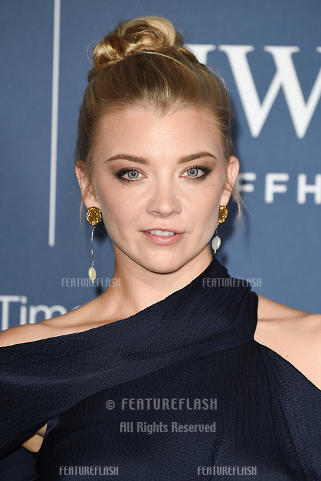 LONDON, UK. October 09, 2018: Natalie Dormer arriving for the 2018 IWC Schaffhausen Gala Dinner in Honour of the BFI at the Electric Light Station, London.<br /> Picture: Steve Vas/Featureflash