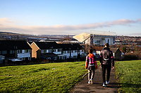 Fans head to Elland Road, home of Leeds United<br /> <br /> Photographer Alex Dodd/CameraSport<br /> <br /> The EFL Sky Bet Championship - Leeds United v Middlesbrough - Saturday 30th November 2019 - Elland Road - Leeds<br /> <br /> World Copyright © 2019 CameraSport. All rights reserved. 43 Linden Ave. Countesthorpe. Leicester. England. LE8 5PG - Tel: +44 (0) 116 277 4147 - admin@camerasport.com - www.camerasport.com