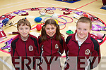 Kevin Foley, Tabita Kolesrova and Patrick Kearney pictured at the Official opening of the new Sports hall at Moyderwell Primary School on Friday.