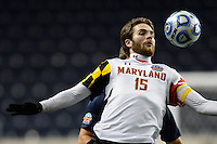 Maryland Terrapins forward Patrick Mullins (15). The Maryland Terrapins defeated Virginia Cavaliers 2-1 during the semifinals of the 2013 NCAA division 1 men's soccer College Cup at PPL Park in Chester, PA, on December 13, 2013.