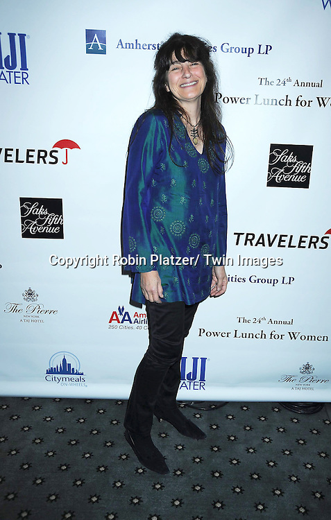 Ruth Reichl posing for photographers at The 24th Annual Citymeals-on-Wheels Power Lunch for Women on November 12, 2010 at The Pierre Hotel in New York City.