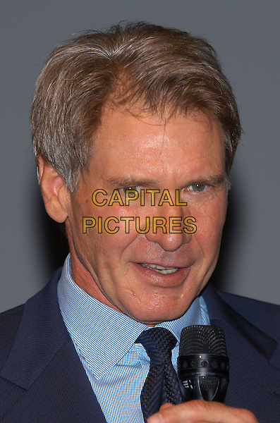 """HARRISON FORD.Photocall for film """"K-19"""".Deauville Film Festival, France, 3rd October 2002..portrait headshot earring.Ref: PL.www.capitalpictures.com.sales@capitalpictures.com.©Capital Pictures."""