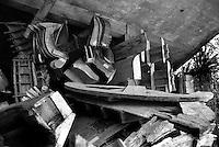 Moulds for concrete sculptures of Edward James´surrealist sculpture gardens at Las Pozas, Xilitla, San Luis Potosi, Road trip mexico 1997.