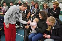20-01-13, Tennis, Rotterdam, Wildcard for qualification ABNAMROWTT, Jesse Timmermans met baby