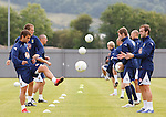 Shaun Maloney and James McFadden set the pace as Scotland train at Dumbarton