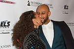 "Musician Alicia Keys and husband Kasseem Dean aka ""Swizz Beatz"" arrive at the Recording Academy Producers & Engineers Wing event honoring Alicia Keys and Swizz Beatz at 30 Rockefeller Plaza in New York City, during Grammy Week on January 25, 2018."