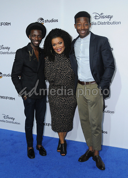 21 May 2017 - Burbank, California - Bernard David Jones, Yvette Nicole Brown, Brandaon Michael Hall. ABC Studios and Freeform International Upfronts held at The Walt Disney Studios Lot in Burbank. Photo Credit: Birdie Thompson/AdMedia