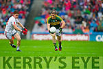 Stephen O'Brien, Kerry in Action Against Conor Meyler, Tyrone in the All Ireland Semi Final at Croke Park on Sunday.
