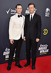 HOLLYWOOD, CA - JULY 14: Joseph Gordon-Levitt (L) and Edward Norton arrive at the Comedy Central Roast Of Bruce Willis at the Hollywood Palladium on July 14, 2018 in Los Angeles, California.