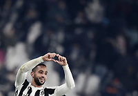 Calcio, Serie A: Juventus - AS Roma, Torino, Allianz Stadium, 23 dicembre, 2017. <br /> Juventus' Medhi Benatia celebrates after winning 1-0 the Italian Serie A football match between Juventus and Roma at Torino's Allianz stadium, December 23, 2017.<br /> UPDATE IMAGES PRESS/Isabella Bonotto