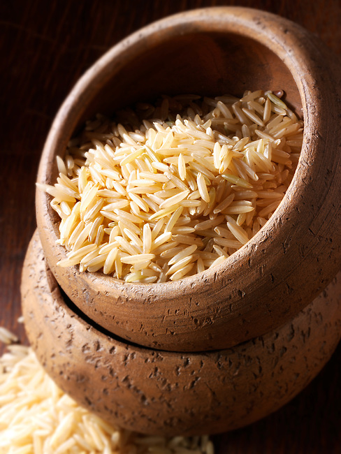 Brown Basmati Rice grains - stock food