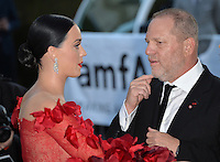 Singer Katy Perry &amp; Harvey Weinstein at the amfAR Cinema Against AIDS Gala 2016 at the Hotel du Cap d'Antibes.<br /> May 19, 2016  Antibes, France<br /> Picture: Paul Smith / Featureflash