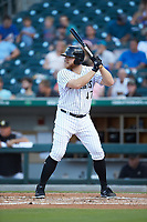 A.J. Reed (47) of the Charlotte Knights at bat against the Scranton/Wilkes-Barre RailRiders at BB&T BallPark on August 14, 2019 in Charlotte, North Carolina. The Knights defeated the RailRiders 13-12 in ten innings. (Brian Westerholt/Four Seam Images)