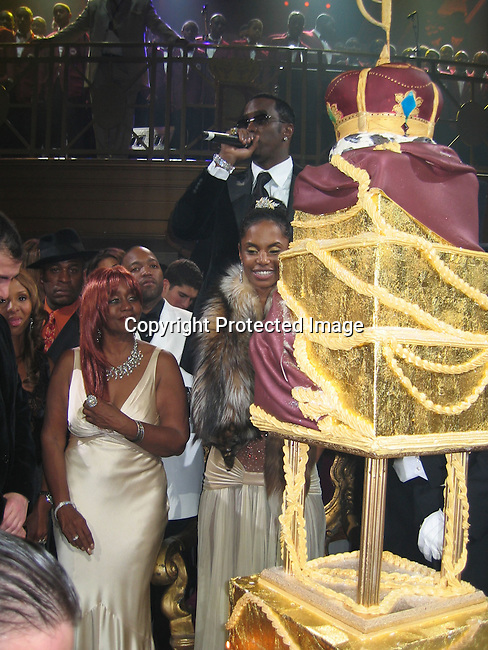 Sean P. Diddy Combs, Kim Porter, Janice Combs<br />