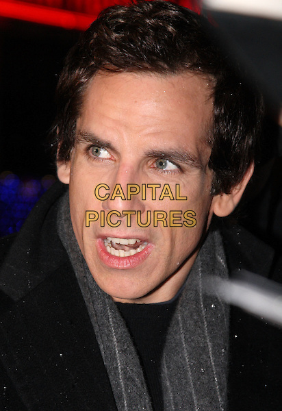 "BEN STILLER .""Madagascar: Escape 2 Africa"" - UK Premiere - Outside Arrivals at Empire Leicester Square, London, England, November 23rd 2008..portrait headshot grey gray scarf mouth open .CAP/JIL.©Jill Mayhew/Capital Pictures"