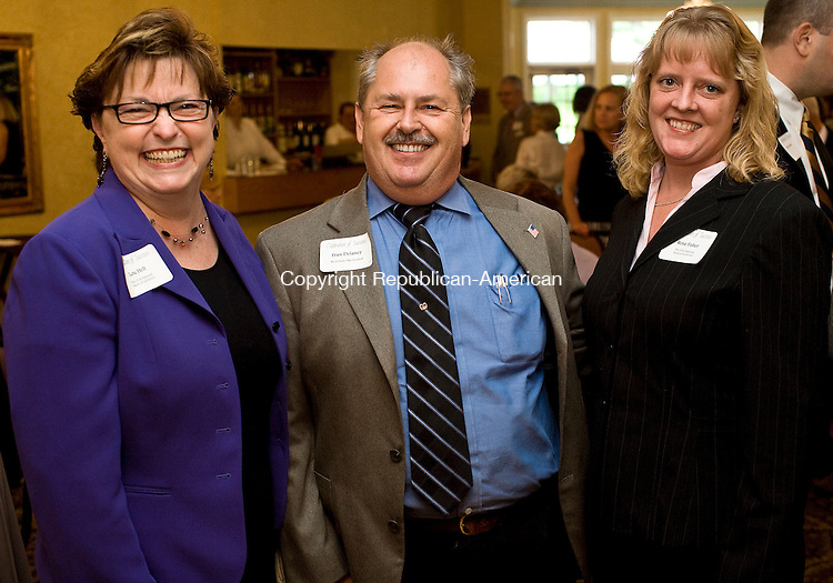 TORRINGTON--25 June 08--062508TJ02 - Lou Helt, from left, Fran Delaney, and Rene Fisher attend the Northwestern Connecticut's Chamber of Commerce annual Celebration of Success awards ceremony at Cornucopia Banqueting Hall in Torrington on Wednesday, June 25, 2008. (T.J. Kirkpatrick/Republican-American)