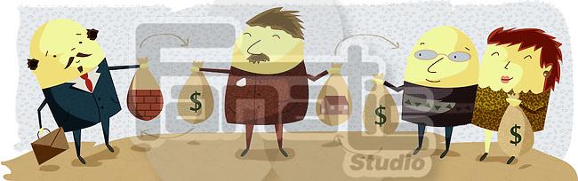 Illustrative representation showing business