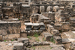 The ruins of the ancient city of Caesarea Philippi in the Hermon Springs (Banyas) Nature Reserve, a national park in the foothills of Mount Hermon in northern Israel.