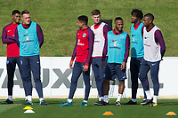 Phil Jones, Jesse Lingard, Raheem Sterling, Nathaniel Chalobah during the part open training session of the  England national football squad at St George's Park, Burton-Upon-Trent, England on 31 August 2017. Photo by James Williamson.