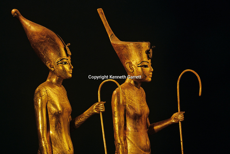 Gilded wood figures of Pharaoh,Tutankhamun Book, Page 8-9