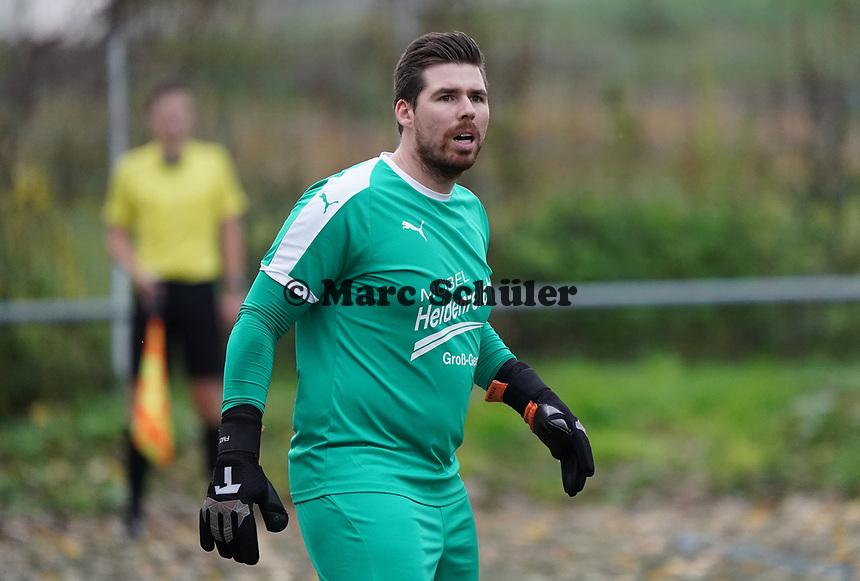 Florian Mayer (SKV) - Büttelborn 03.11.2019: SKV Büttelborn vs. SV 07 Nauheim, Gruppenliga Darmstadt