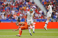 LYON, FRANCE - JULY 07: Julie Ertz #8 during the 2019 FIFA Women's World Cup France final match between the Netherlands and the United States at Stade de Lyon on July 07, 2019 in Lyon, France.