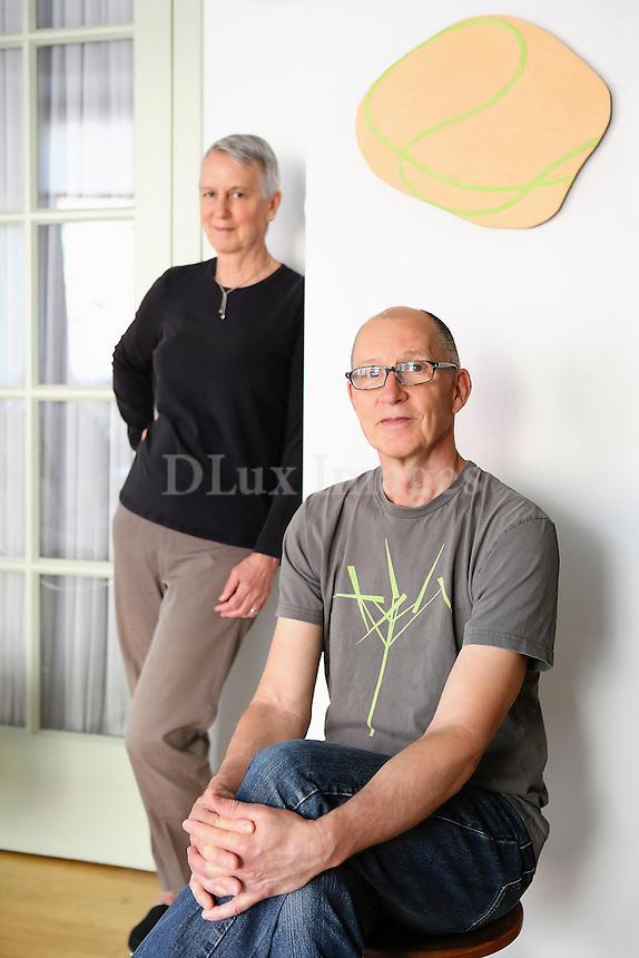 Andrew & Sique Spence portrait Artist