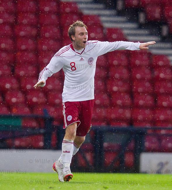 Denmark's Christian Eriksen celebrates his goal