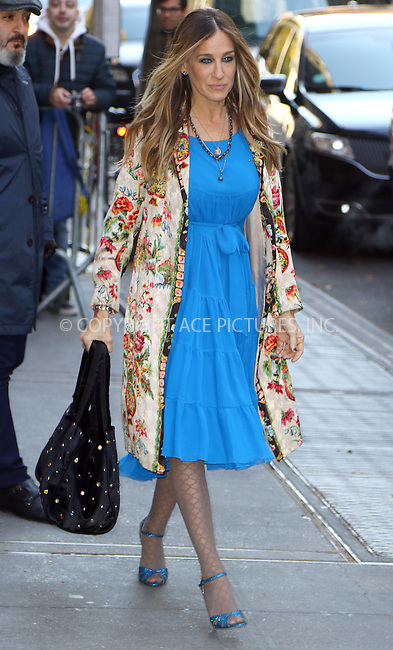 www.acepixs.com<br /> <br /> November 28 2016, New York City<br /> <br /> Actress Sarah Jessica Parker made an appearance at The View on November 28 2016 in New York City<br /> <br /> By Line: Zelig Shaul/ACE Pictures<br /> <br /> <br /> ACE Pictures Inc<br /> Tel: 6467670430<br /> Email: info@acepixs.com<br /> www.acepixs.com