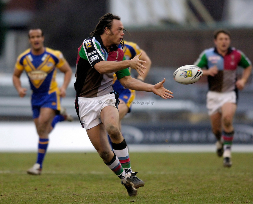 Photo: Jed Wee..Leeds Rhinos v Harlequins Rugby League. Pre Season Friendly. 29/01/2006. ..Karl Temata.