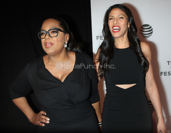 04 20 2016: Oprah Winfrey, Merle Dandridge at Tribeca Film Festival 2016 presents World premiere of OWN: Oprah Winfrey Netwoek's new orginal Drama Series Greenleaf at  John Zuccotti Theater at BMCC Tribeca Performing Arts Center in New York. Credit:RW/MediaPunch