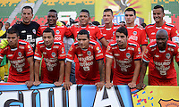 IBAGUE - COLOMBIA -30 -09-2016: Los jugadores de Fortaleza C.E.I.F, posan para una foto durante partido entre Atletico Huila y Fortaleza C.E.I.F, por la fecha 15 de la Liga Aguila II 2016 en el estadio Manuel Murillo Toro de Ibague. / The players of Fortaleza C.E.I.F, pose for a photo, during a match between Atletico Huila and Fortaleza C.E.I.F, for the date 15 of the Liga Aguila II 2016 at the Manuel Murilo Toro Stadium in Ibague city. Photo: VizzorImage  / Juan C Escobar / Cont.