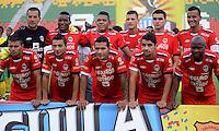 IBAGUE - COLOMBIA -30 -09-2016: Los jugadores de Fortaleza C.E.I.F, posan para una foto durante partido entre Atletico Huila y Fortaleza C.E.I.F, por la fecha 15 de la Liga Aguila II 2016 en el estadio Manuel Murillo Toro de Ibague. / The players of Fortaleza C.E.I.F, pose for a photo, during a match between Atletico Huila and Fortaleza C.E.I.F, for the date 15 of the Liga Aguila II 2016 at the Manuel Murilo Toro Stadium in Ibague city. Photo: VizzorImage  / Juan C Escobar / Cont.