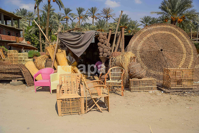 Straw-traditional products are seen, in Cairo, Egypt, on September 7, 2016. Photo by Amr Sayed