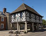 Town Hall building original seventeenth century restored 1889 now a museum, Royal Wootten Bassett, Wiltshire, England, UK