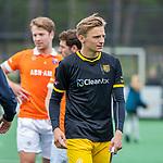 BLOEMENDAAL -  Noud Schoenaker (Den Bosch)   na de   hoofdklasse competitiewedstrijd hockey heren,  Bloemendaal-Den Bosch (2-1)   COPYRIGHT KOEN SUYK